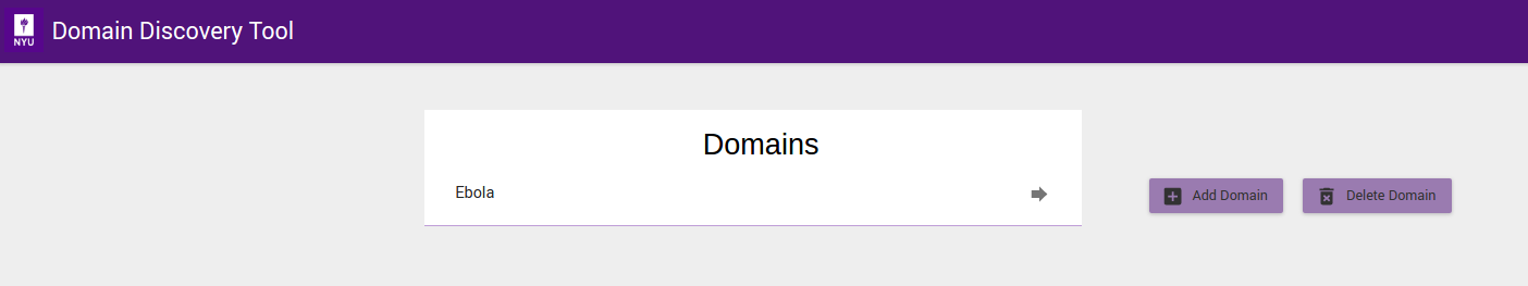 How to domain discovery tool 10 documentation once domain is added click on domain name in the list of domains to collect analyse and annotate web pages ccuart Choice Image